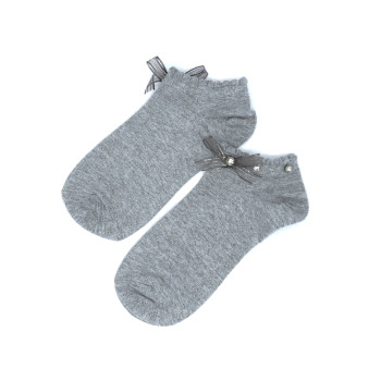 Short socks with bows