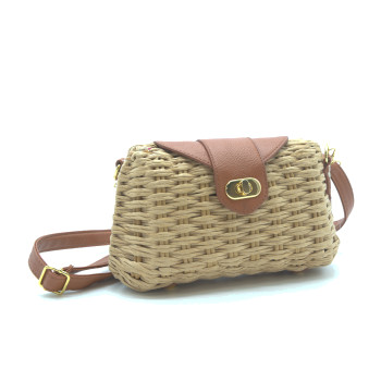 Rectangular straw bag