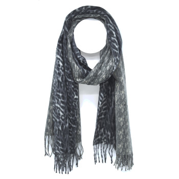 Rectangular scarf cashmere feel