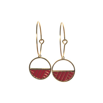 Hoop geometric earrings