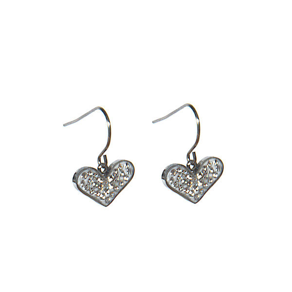 Small heart shaped earrings